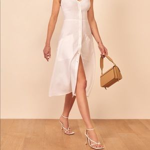 NWT Reformation White Parke Dress